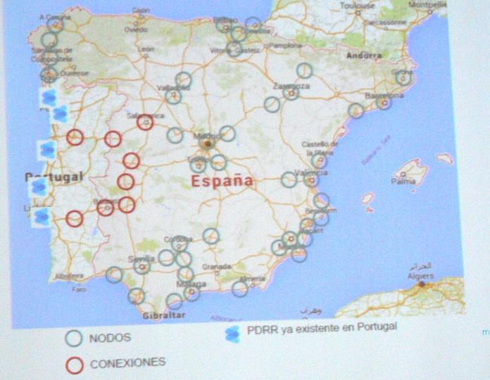 mapa de propuesta de PRR para los corredores en España