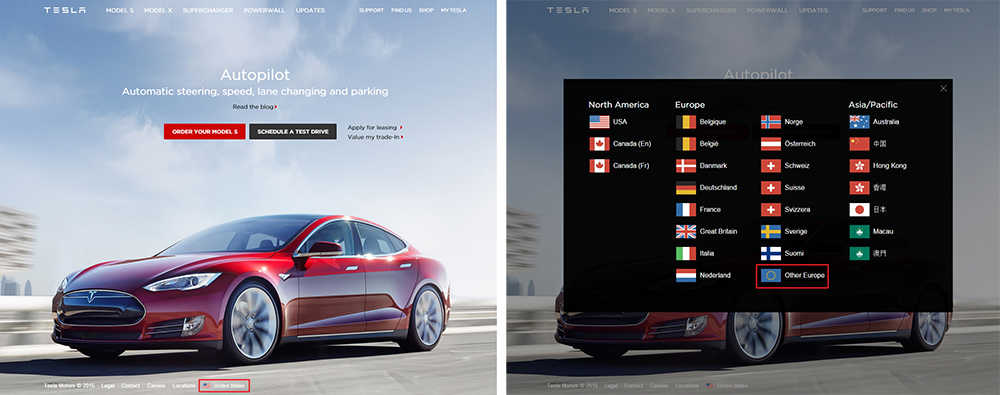 web tesla motors
