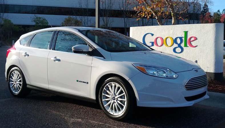 Ford Focus eléctrico y google