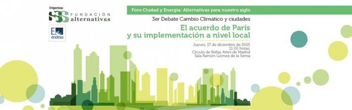 III Debate Cambio Climático y ciudades fundacion alternativas