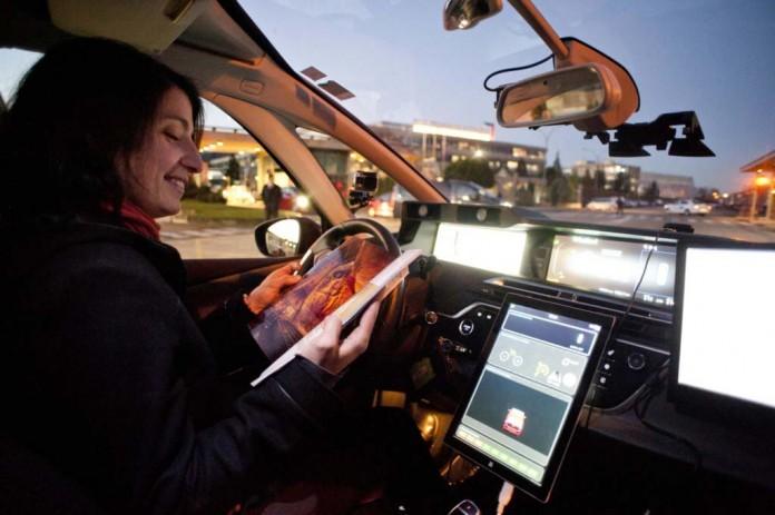 coche autonomo psa vigo-madrid interior
