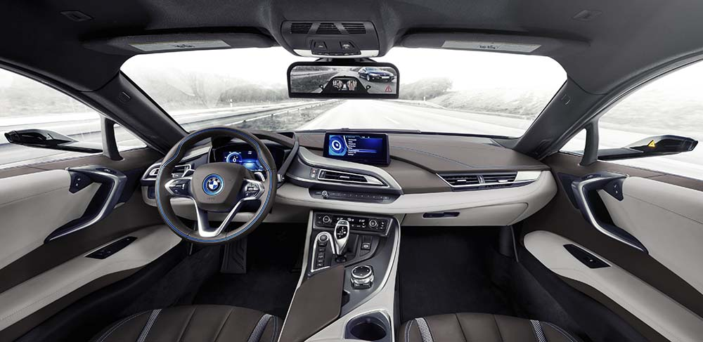 bmw i8 mirrorless interior