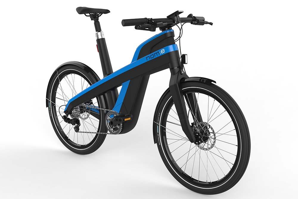Nam:e, bastidor de bicicleta eléctrica reciclable 100%