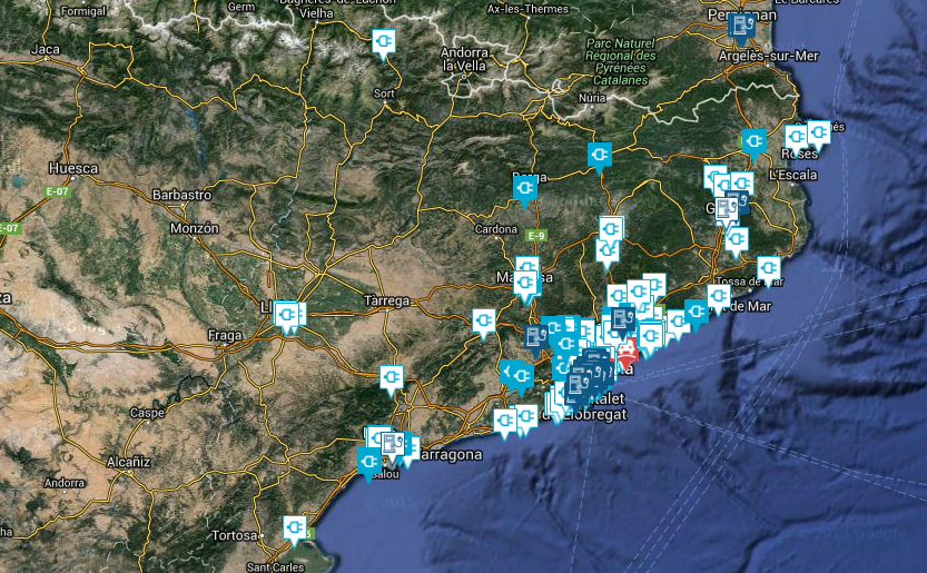 puntos de recarga rápida cataluña