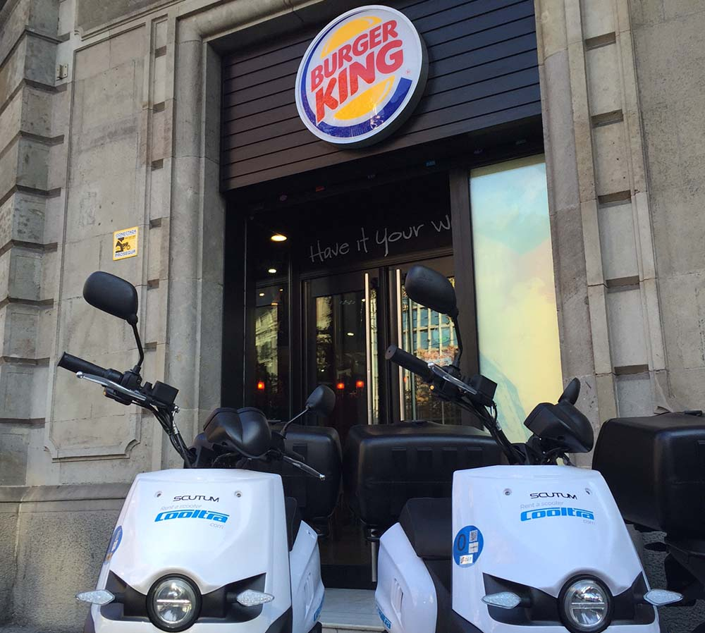scutum so2 Burger King  plaza Urquinaona de Barcelona