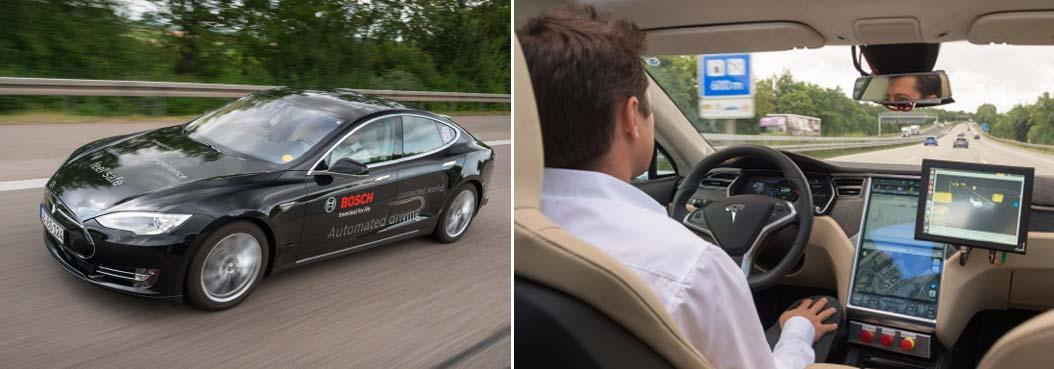 tesla model s conducción autónoma bosch