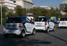 Flota de Smart ForTwo ED de Car2go en Madrid