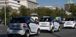 Flota de Smart ForTwo ED de Car2go en Madrid