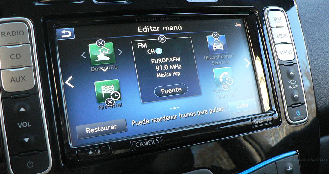 NissanConnect EV en el Nissan Leaf 30 kWh
