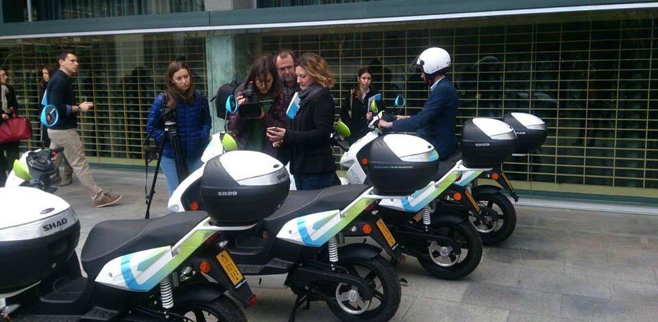 Presentación de eCooltra Motosharing en Barcelona