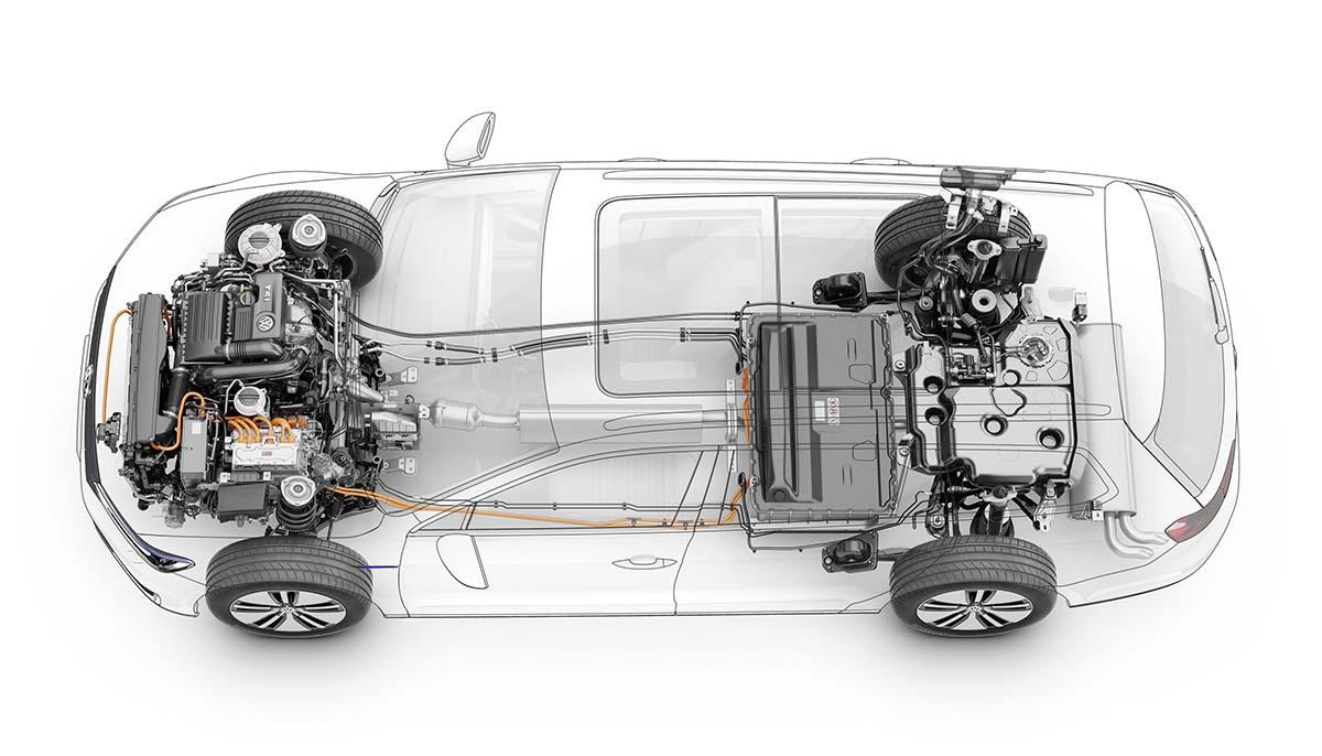 sistema híbrido enchufable del Volkswagen Passat GTE