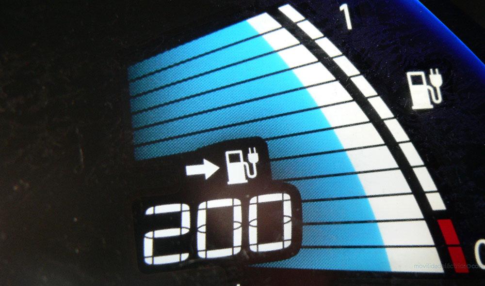 Barras de estado de la batería del Nissan Leaf