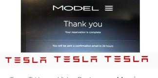 Confirmación de reserva del Model 3