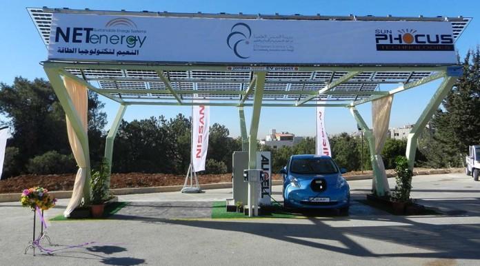 Estación de recarga solar DBT en Jordania