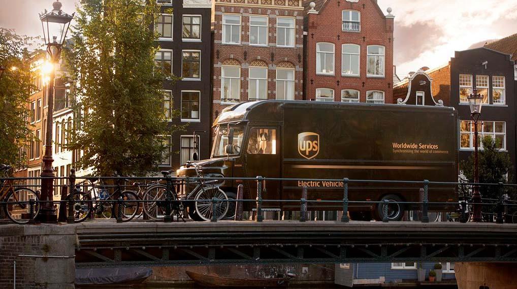 Furgoneta de reparto P80E de UPS convertira a eléctrica en Ámsterdam