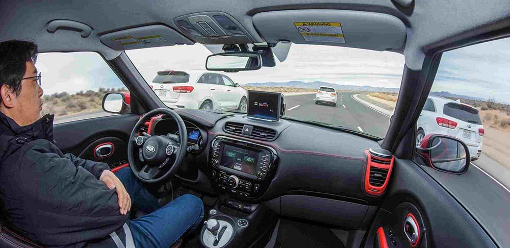 Interior del Kia Soul EV Autónomo