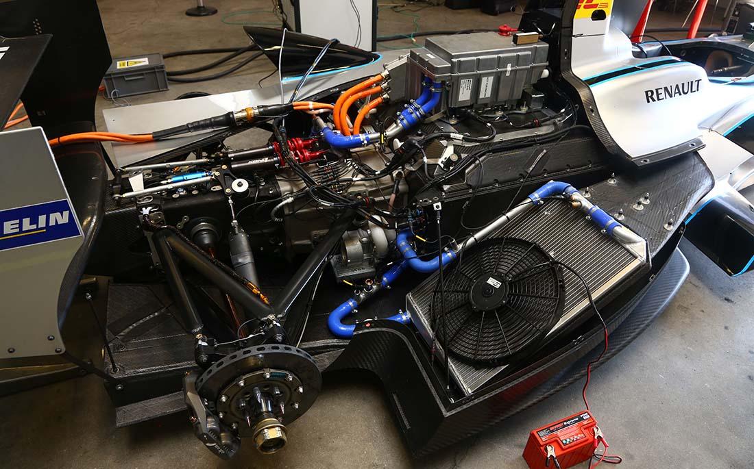 Mecánica del monoplaza de RENAULT e.dams. Segunda temporada de la Fórmula E