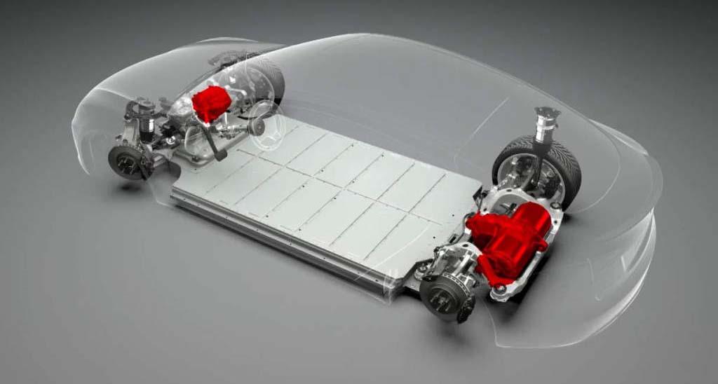 Motores en las ruedas del Tesla Model S D
