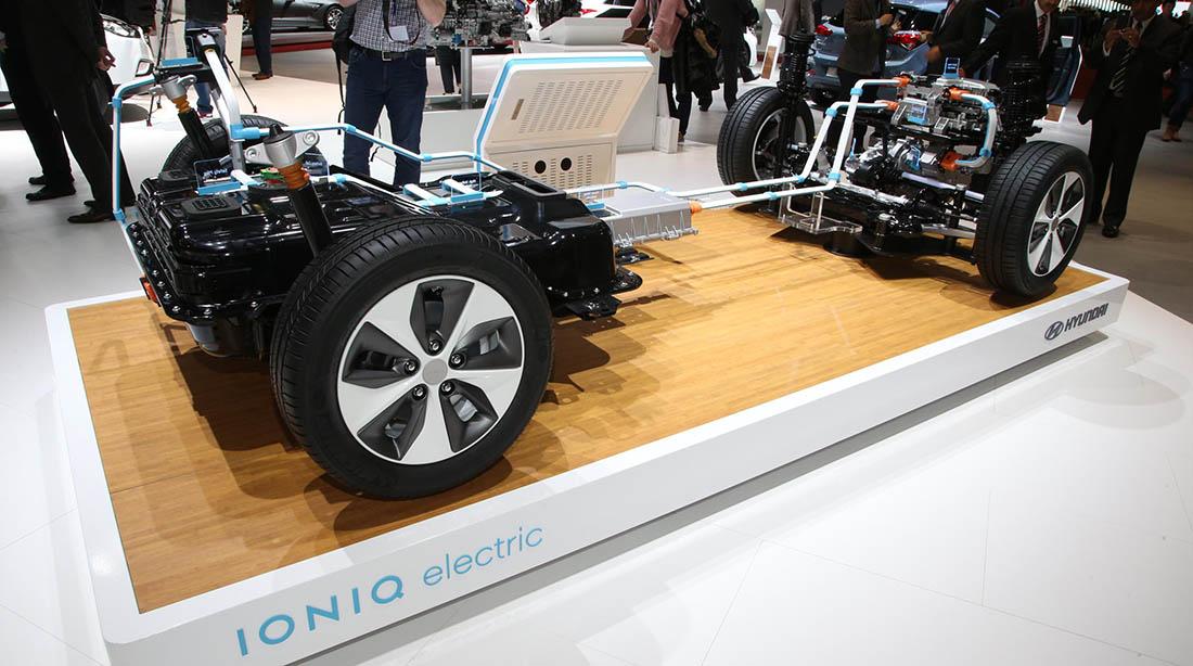 Sistema eléctrico del Hyundai Ioniq eléctrico