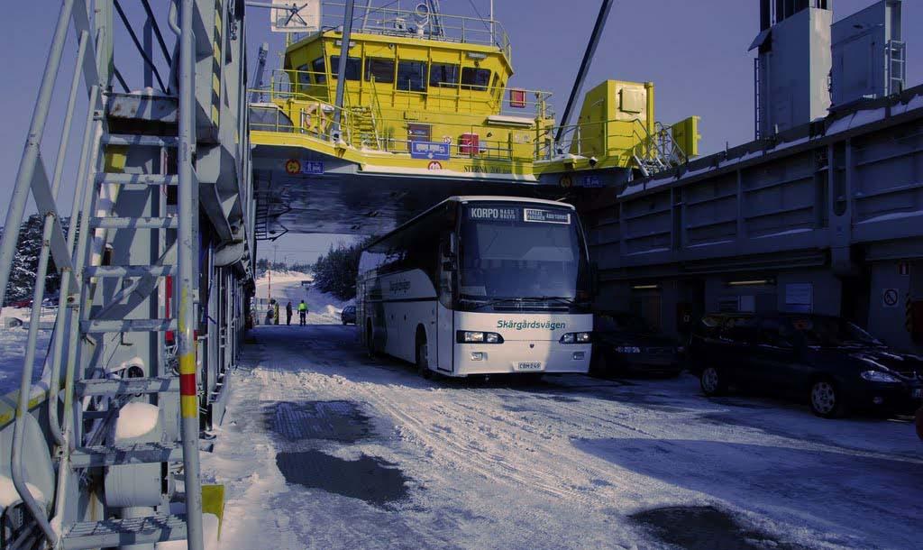Transbordador FinFerries entre Nauvo y Parainen