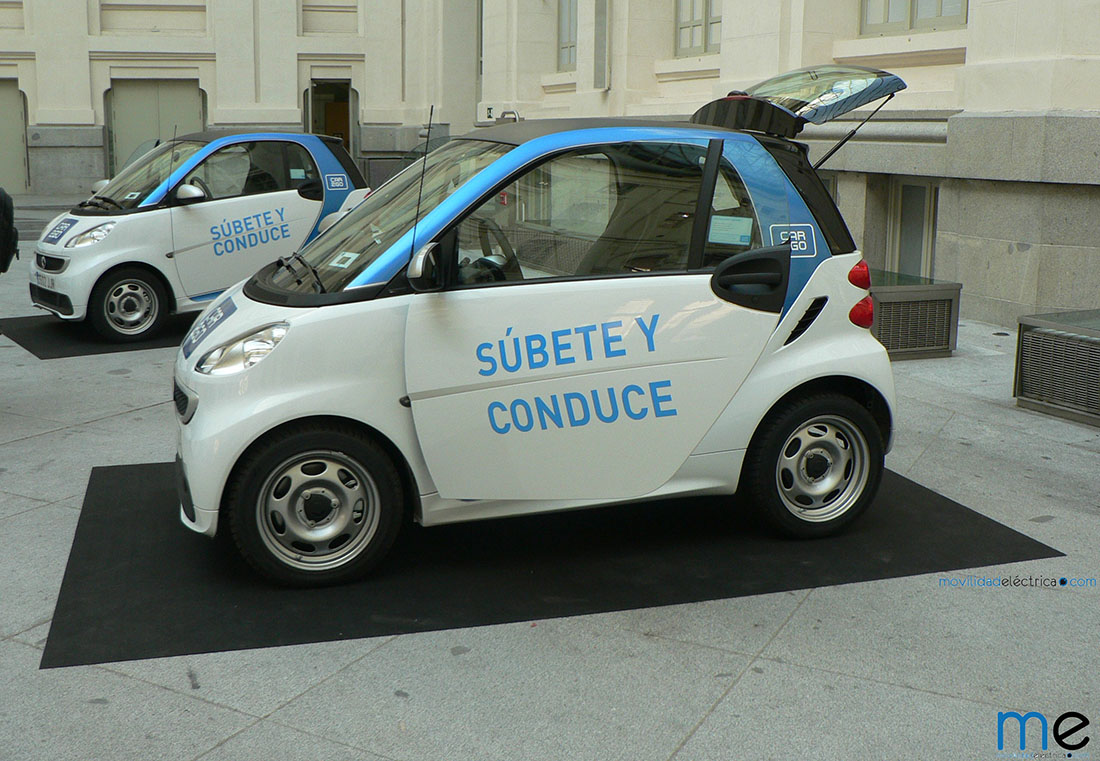 500 Smart ForTwo ED forman la flota de car2go en Madrid