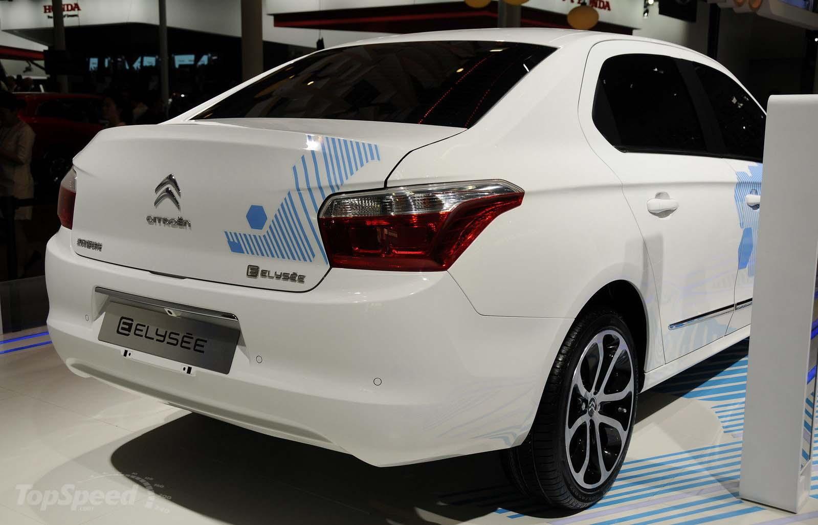 Citroën E-Elysée en el Salón de Pekín-lateral trasera