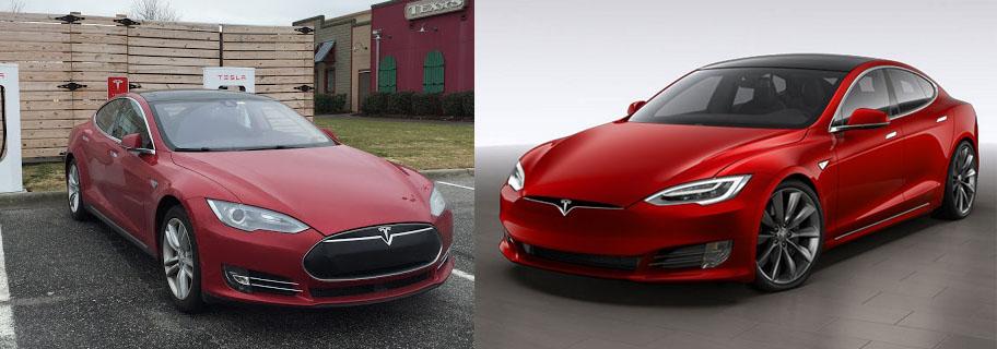 Comparativa estética del nuevo Model S