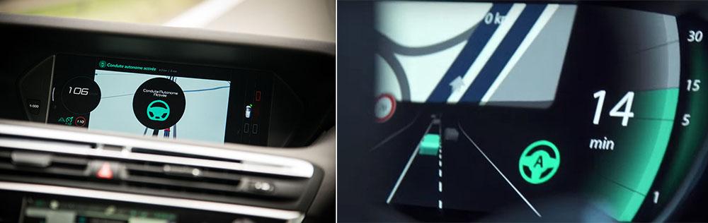 Conducción autónoma Renault-Espace y PSA - C4 Picasso