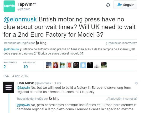 Fábrica en Europa de Tesla Motors
