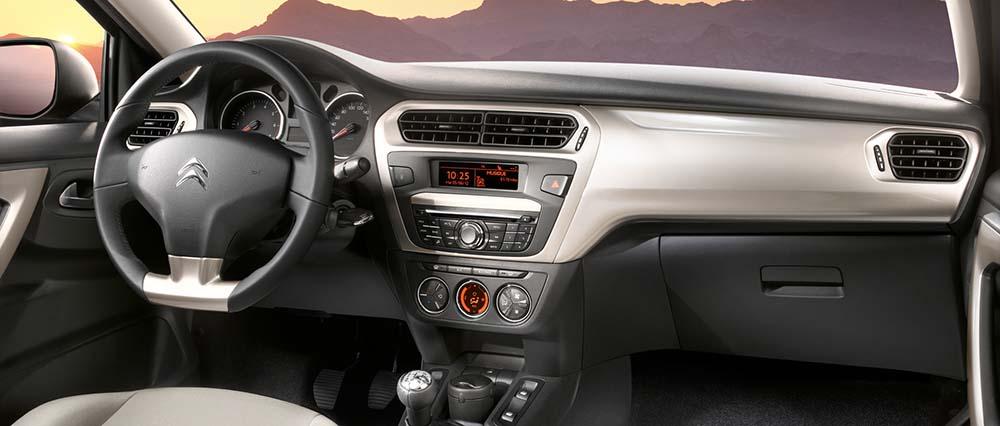 Interior del Citroën C-Elysée
