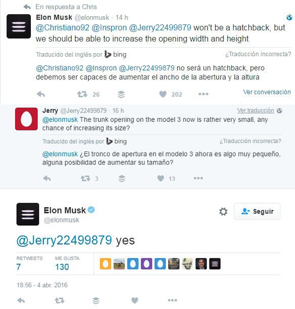 Maletero del Tesla Model 3