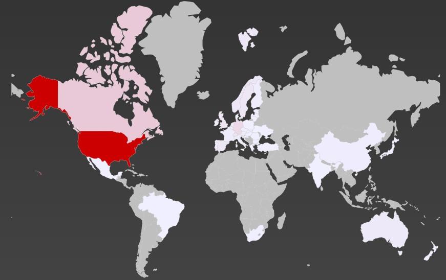 Mapa mundial de estimación de reservas del Model 3