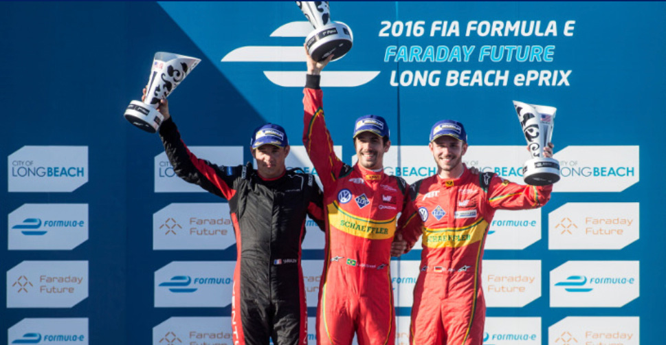 Pódium ePrix de Long Beach
