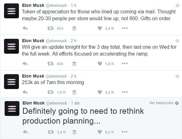 Timeline del Twitter de Elon Musk-@elonmuskTimeline del Twitter de Elon Musk-@elonmusk