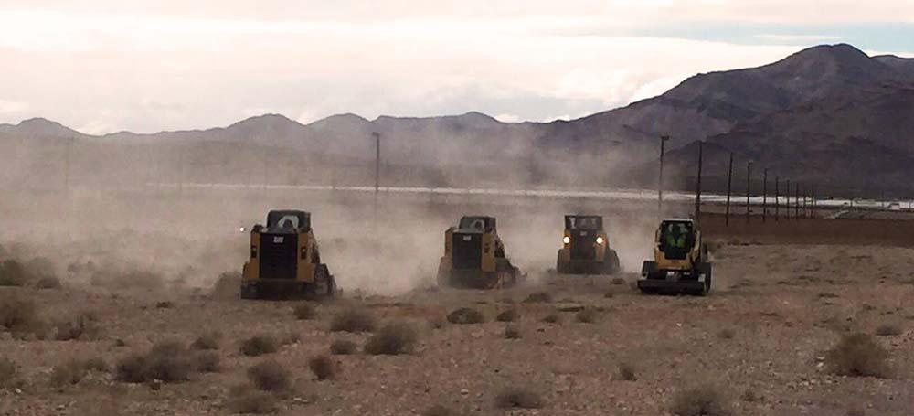 Trabajos de desbroce de los terrenos iniciados el 25 de enero