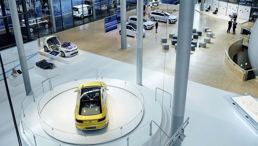 Visión general de la Fábrica de Cristal de Volkswagen