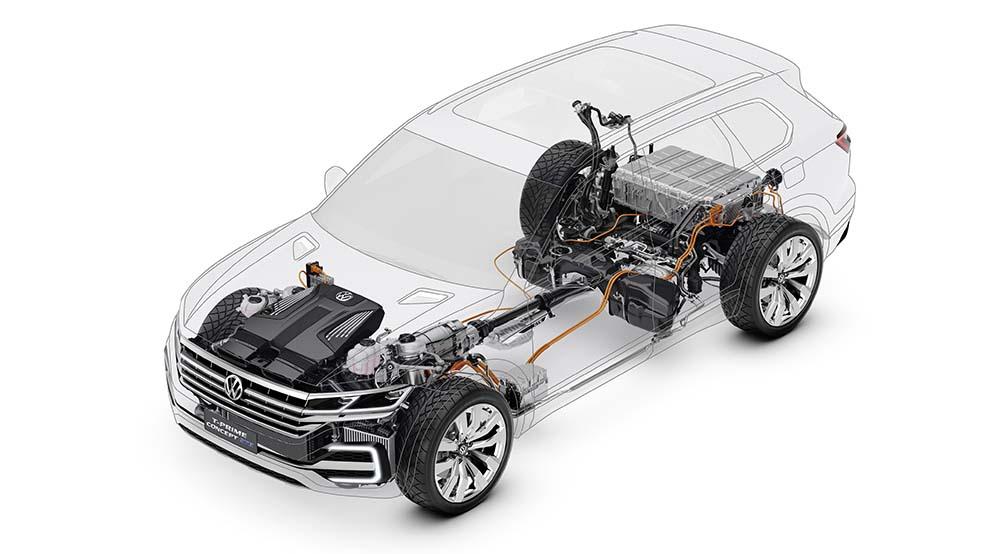 Volkswagen T-Prime Concept GTE-Sistema híbrido