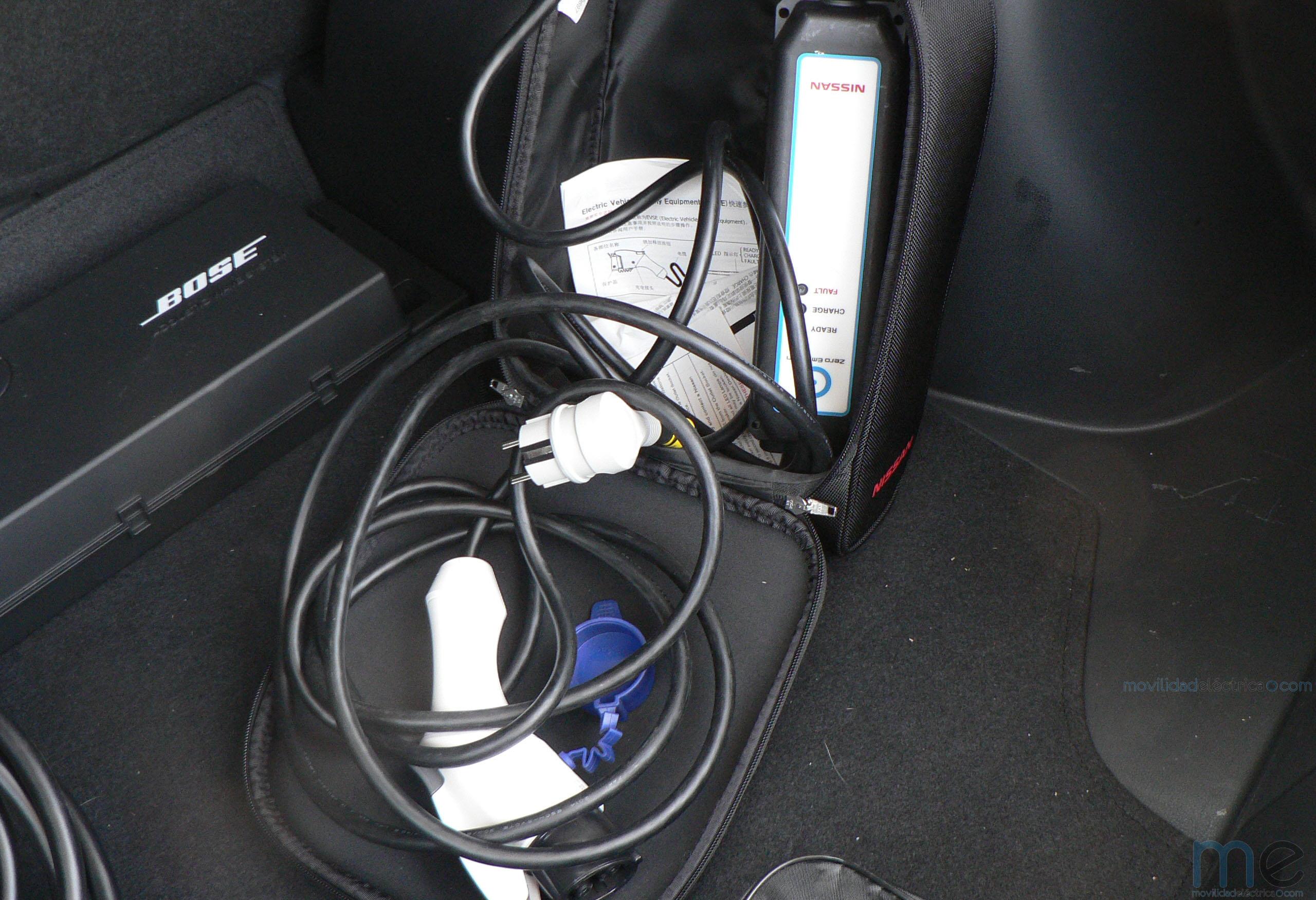 Cables de recarga modo 2 y modo 3 del Nissan Leaf de 30 kWh