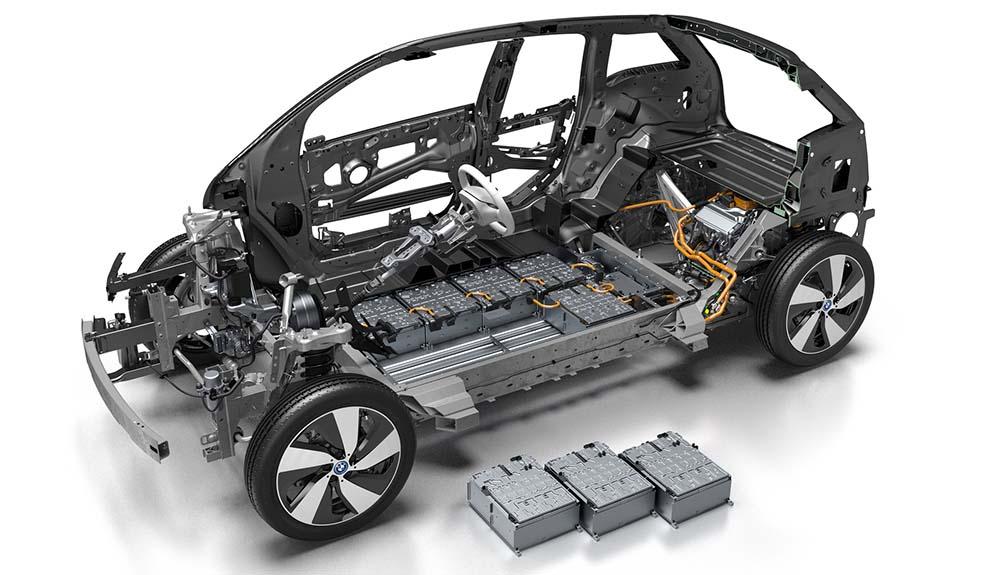 Celdas de 94 Ah en la nueva batería del BMW i3