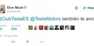 """Tweet de Elon Musk: """"También te amo"""""""