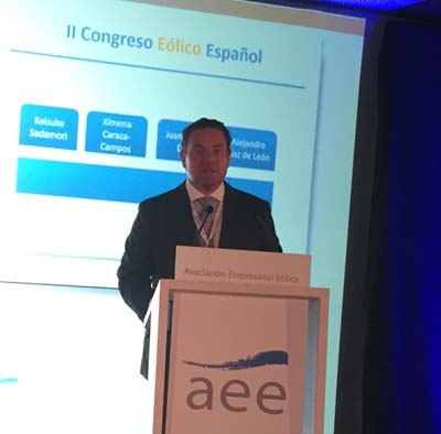 Juan Diego Díaz presidente de la Asociación Empresarial Eólica (AEE)