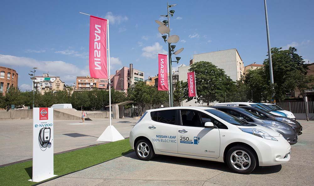 Nissan Leaf en el Zero Emission Tour 2016 de Girona