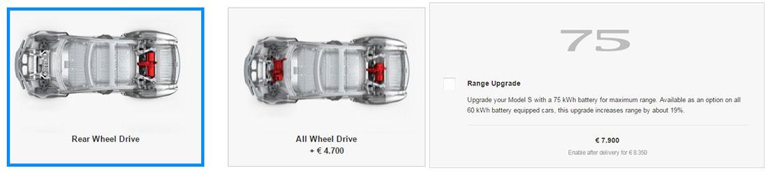 Opciones del Model S 60