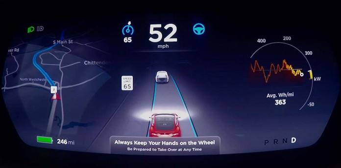 Autopilot de Tesla en la prueba de Consumer Reports