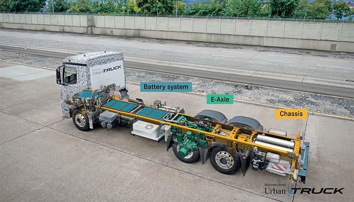 Configuración mecánica del Mercedes-Benz Urban eTruck