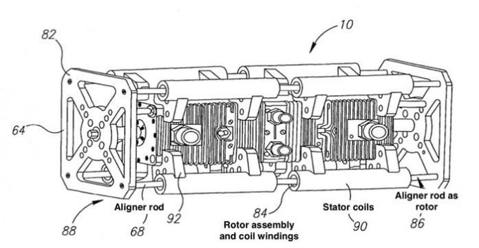 Motor lineal de pistón libre extensor de rango