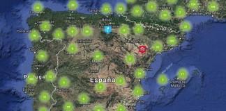 Puntos de recarga en España incluidos en ChargeMap