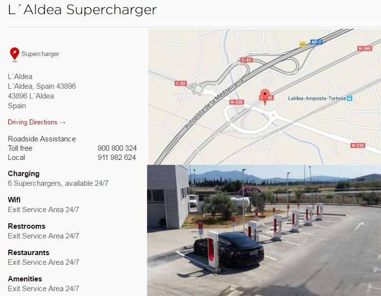 Ubicación de tercer supercargador de Tesla en L'Aldea