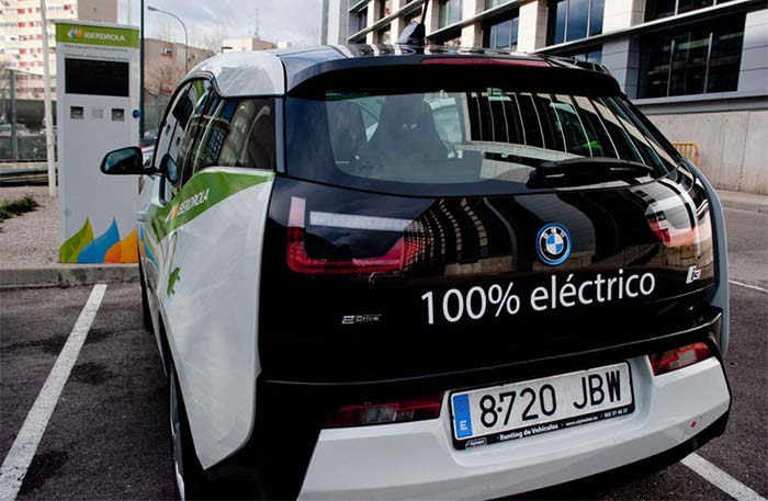 BMW i3 del carsharing eléctrico de Iberdrola