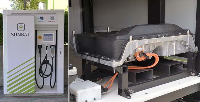 Estación de recarga y baterías del proyecto Sunbatt